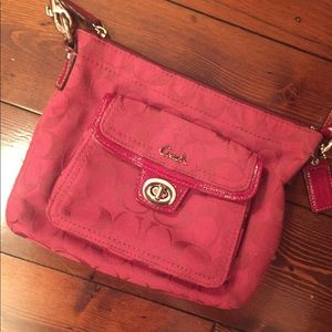 Burgundy Coach Crossbody Purse